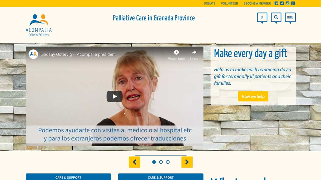 palliative care in Granada, Spain