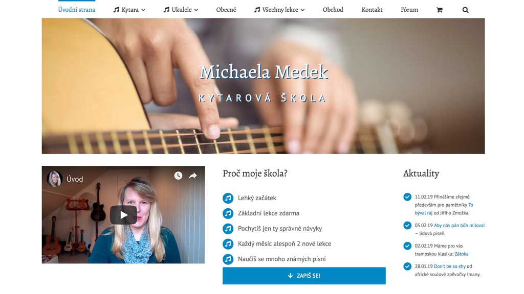 michaela medek teaches ukulele