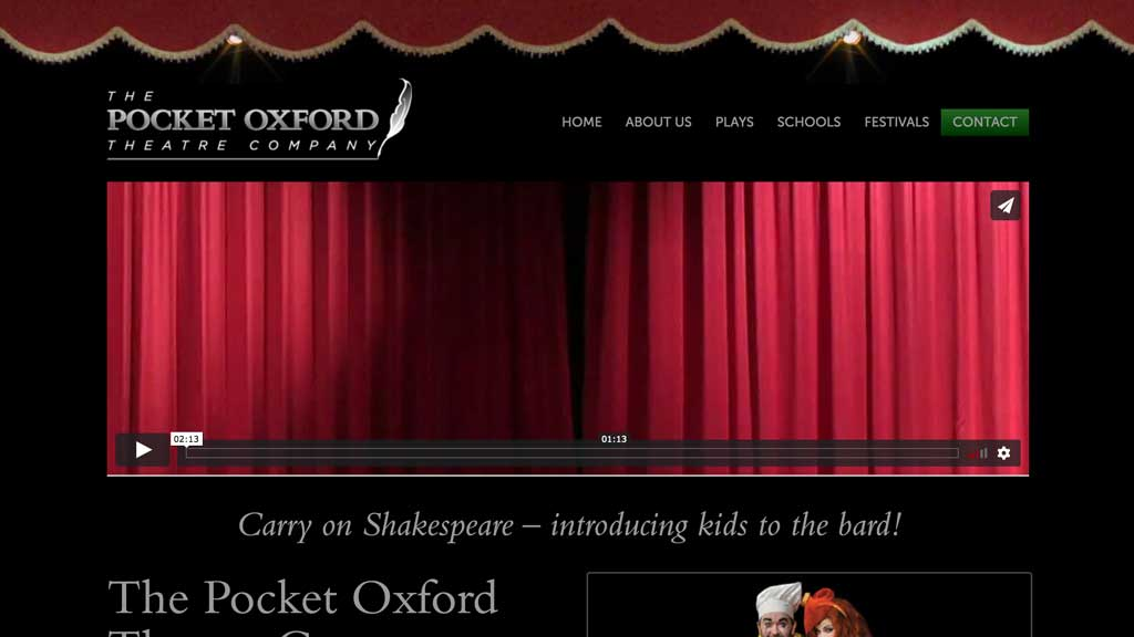 Shakespeare for children, theatre