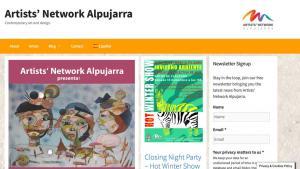 Artists Network Alpujarra website builders