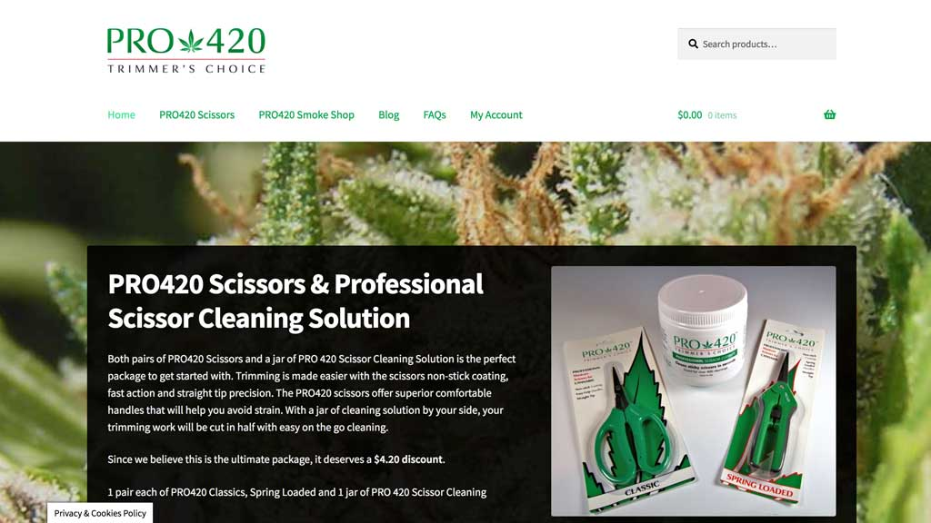 webshop for selling trimming scissors